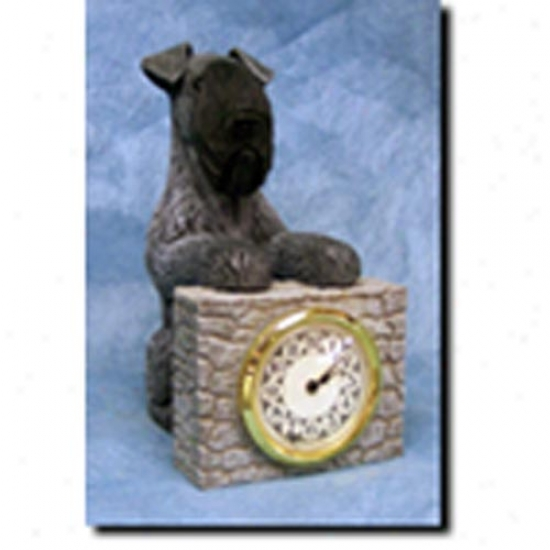 Kerry Blue Terrier Mantle Clock