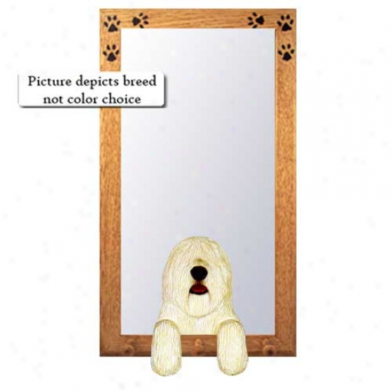 Komondor Hall Mirror With Basswood Pine Frame