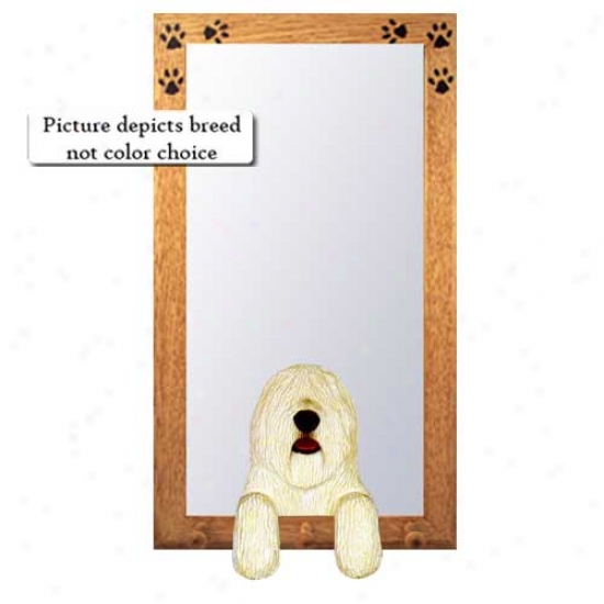 Komondor Hall Pattern Wirh Oak Golden Frame