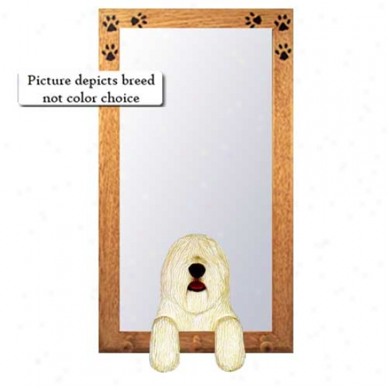 Komondor Hall Mirror With Oak Natural Frame