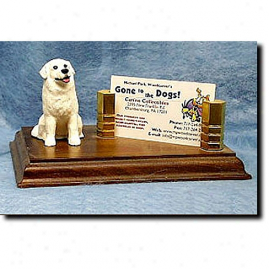 Kuvasz Business Card Holder