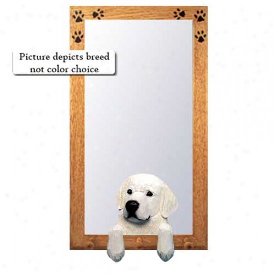 Kuvasz Hall Mirror With Basswood Pine Frame