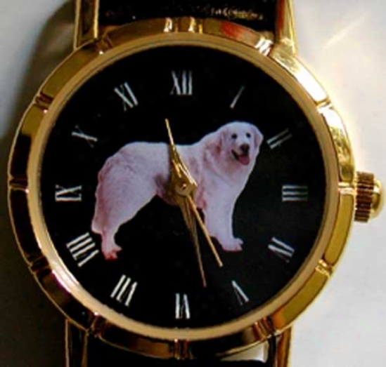 Kuvasz Watch - Large Face, Black Leather