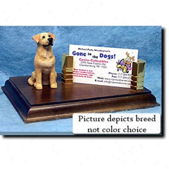 Labrador Retriever (black) Business Card Holder