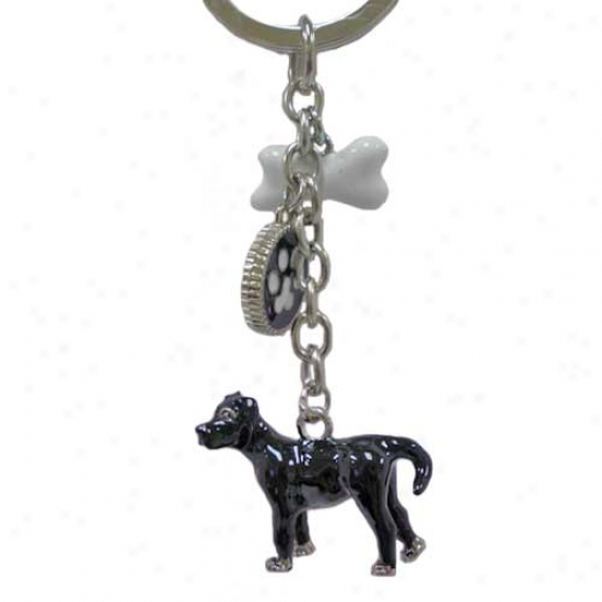 Labrador Retriever Black Enameled Keychain