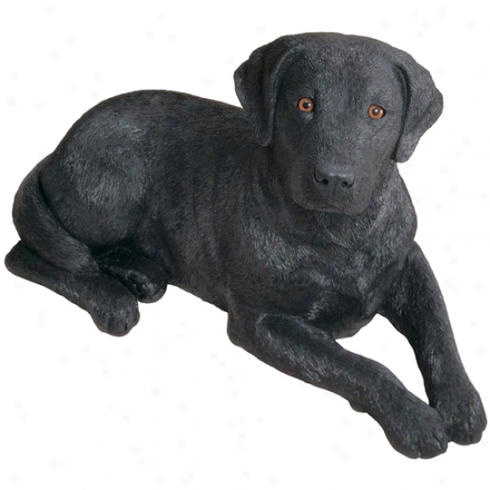 Labrador Retriever-black (lying1) Original Size Sandicast Sculpture