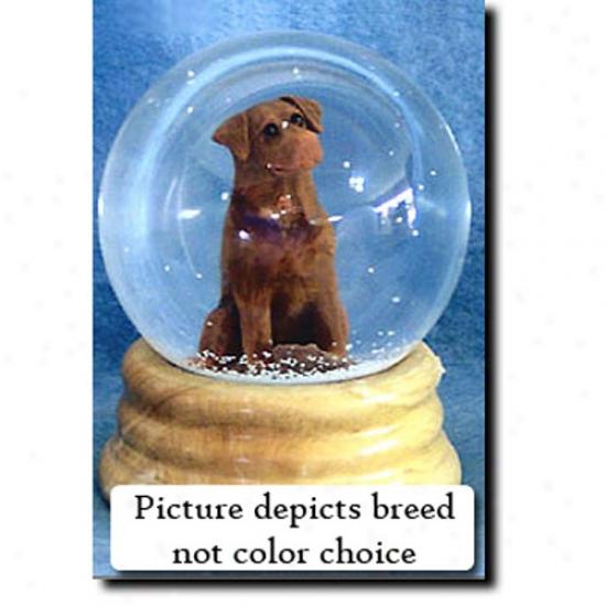 Labrador Retriever (black) Musical Snow Sphere