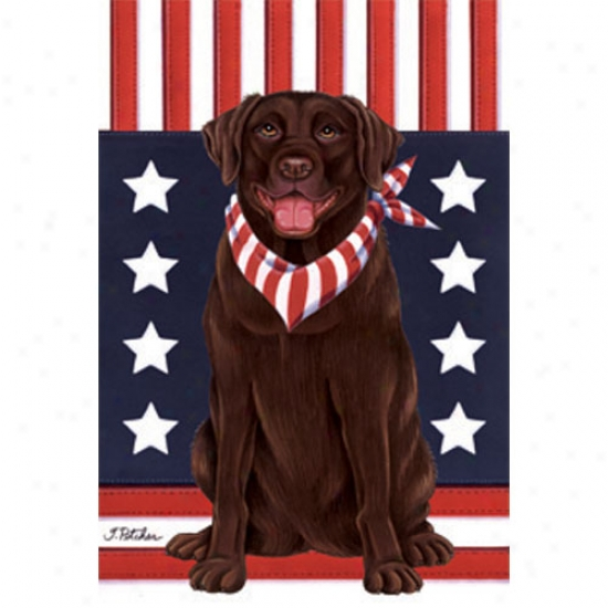 Labrador Retriever (chkcolate) Patriotiv Breed Flag