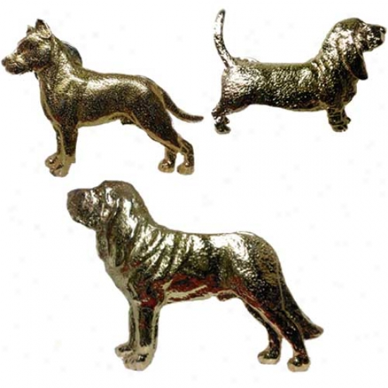 Labrador Rettiever Pin Head Only 24k Gold Plated