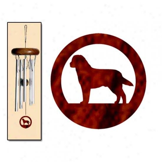 Labrador Retrieever Wind Chimes X-small Silver