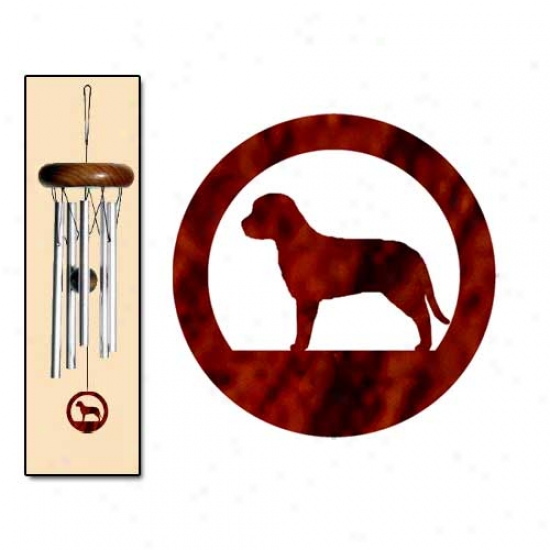 Lagotto Romagnolo Wind Chimes X-small Silver