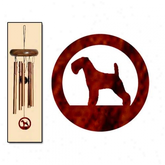 Lakeland Terrier Wind Chimes X-small Bornze