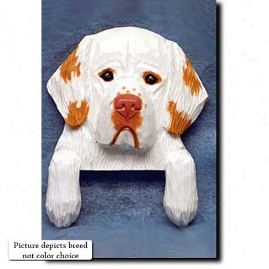 Lemon Clumber Spaniel Door Topper