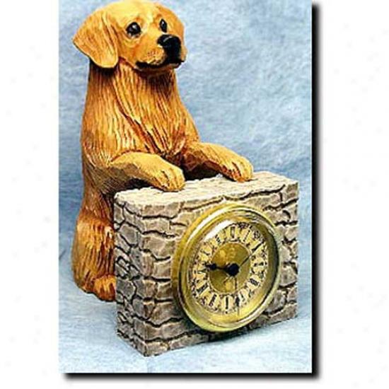 Light Golden Retriever Mantle Clock