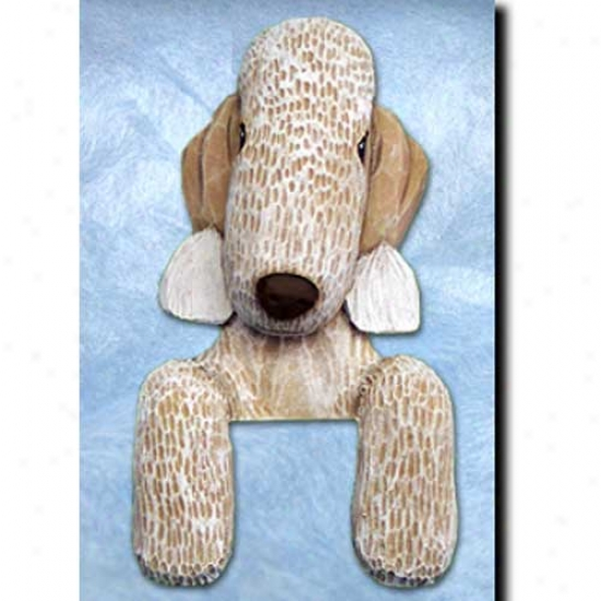 Liver Bedlington Terrier Door Topper