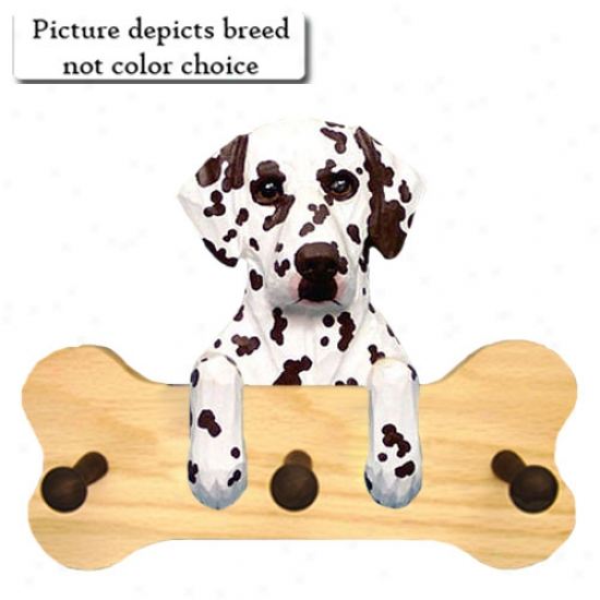 Liver Dalmatian Bone Hang Up Natural Oak