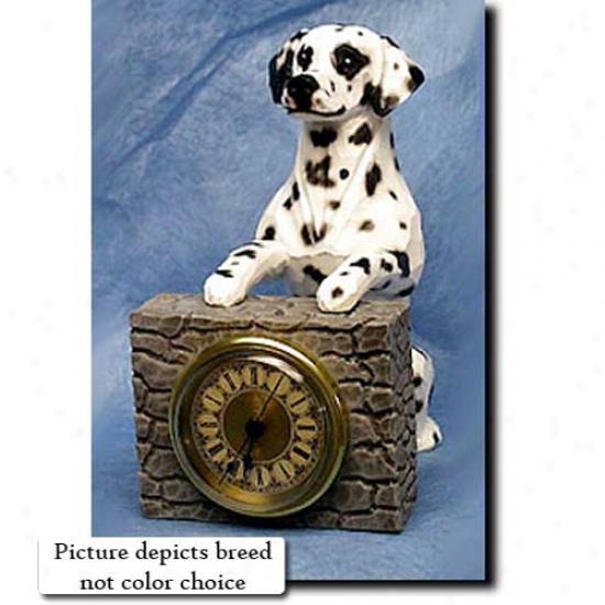 Liver Dalmatian Mantle Clock