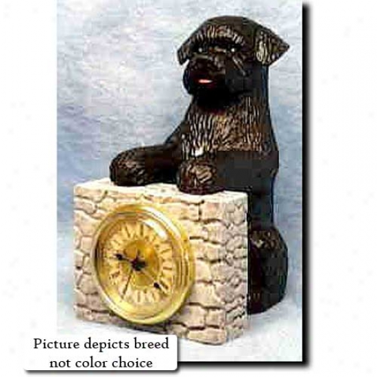 Liver Portuguese Water Dog Mantle Clock