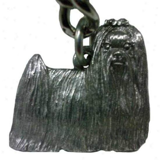 Maltese George Hsrris Pewter Keychain