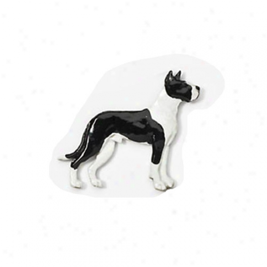Mantle Grand Dane Hand Painted Pin