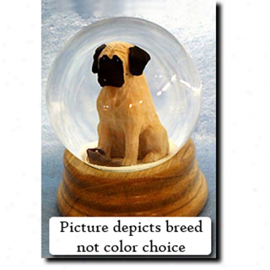 Mastiff (brindle) Musical Snow Globe