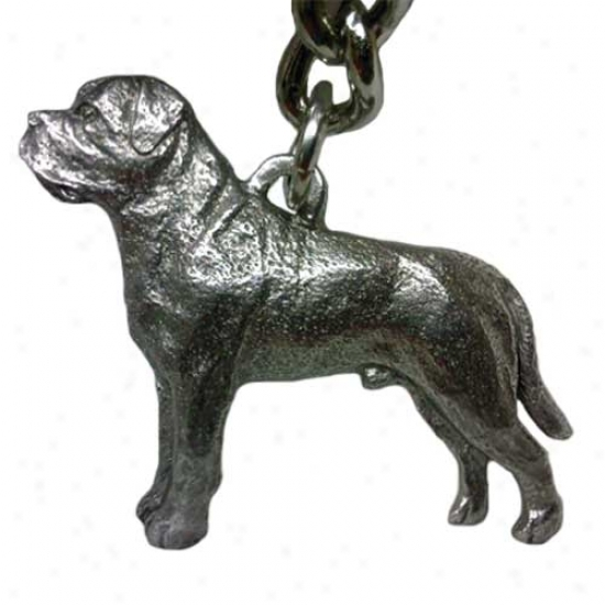 Mastiff George Harris Pewter Keychain