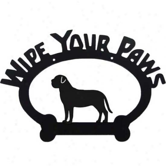 Mastiff Wipe Your Paws Decorative Sign