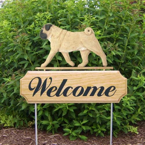 Michael Park Dog In Gait Welcome Stake Pug Fawn