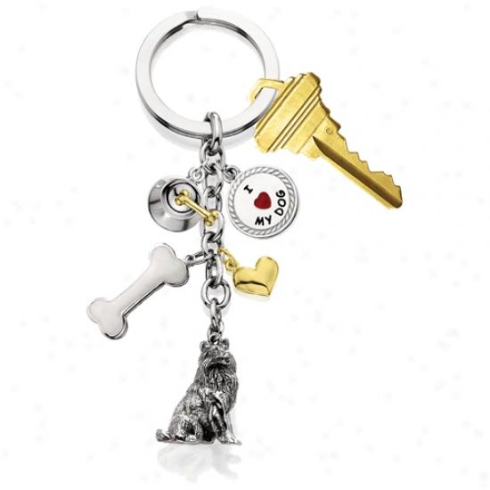 Miniature Pinscher - I Love My Dog Keychain