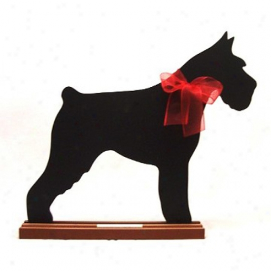Miniature Schnauzsr Blackboard - Wall Model