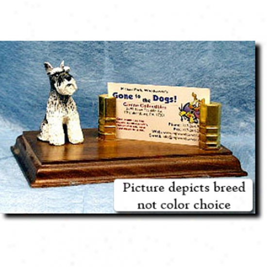 Miniature Schnauzer (sakt And Pepper) Business Card Holder
