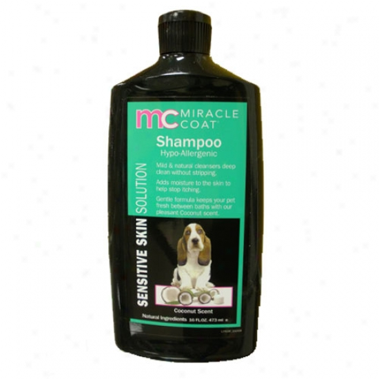 Miracle Coat Sensitive Hypozllergenic Shampoo 16oz