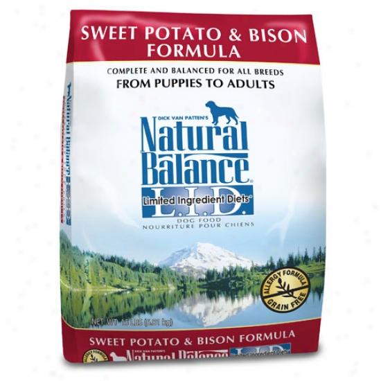 Natural Balance L.i.d. Sweet Potato And Bison Dog Food 15lb Oversized