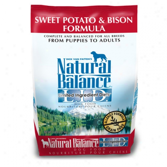 Natural Balance L.i.d. Sweet Potato And Bison Dog Food 5lb