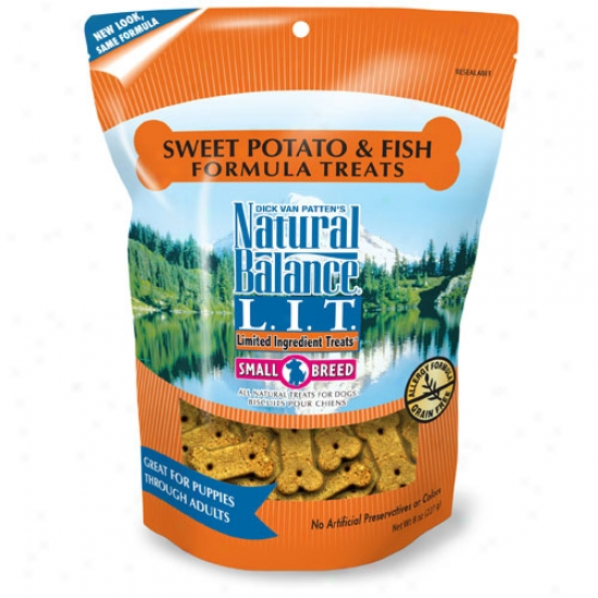 Natural Balance Sweet Potato And Fih Mean Breed Treats 8oz