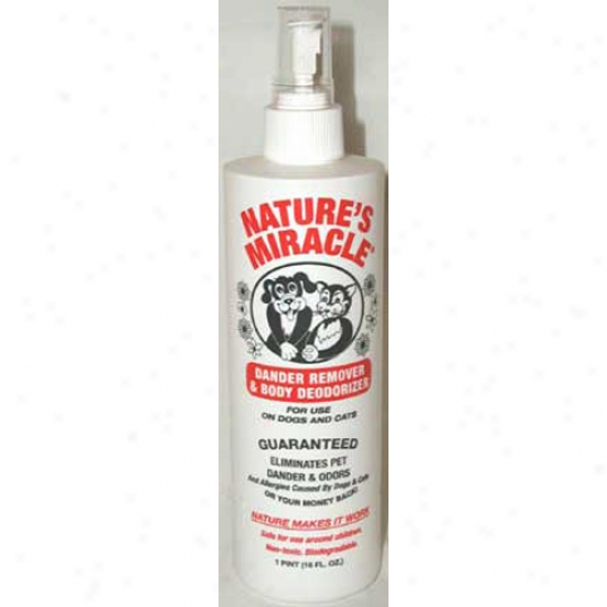Natures Miracle Dander Remover And Body Deodorizer 16 Oz