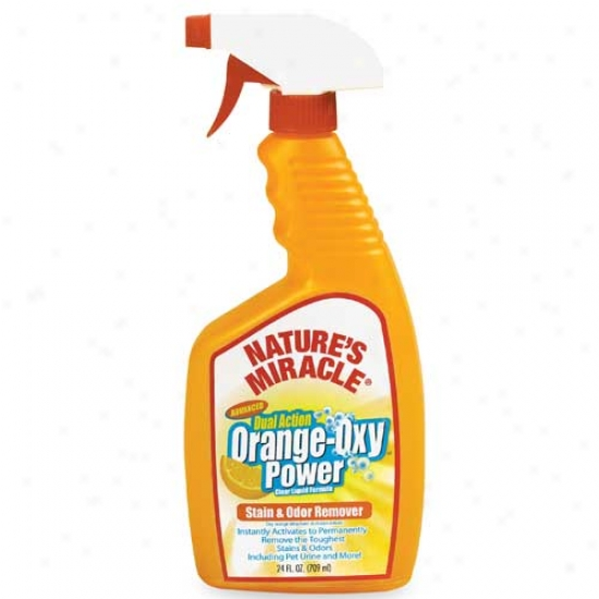Natures Miracls Orange Oxy Power Stain And Odor Remover 24oz