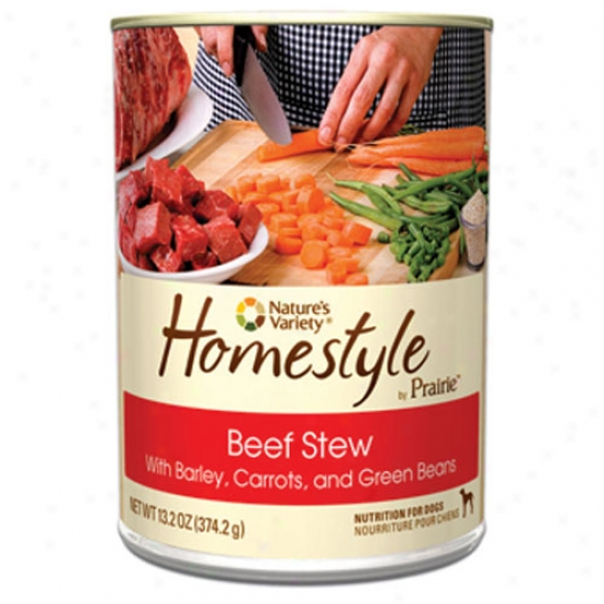 Natures Variety Homestyle Prairie Beef Stew For Dogs Case Of 12 13.2oz Cans