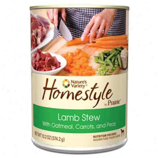 Natures Variety Homestyle Prairie Lamb Stew For Dogs Case Of 12 13.2oz Cans