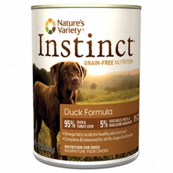 Natures Varieety Instinct Duck 13.2oz Canned Diet Case