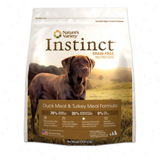Natures Variety Instinct Duck And Turkey Dog Food 25.3lb Oversized