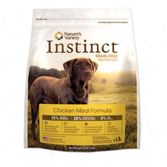Natures Variety Instinct Grain Free Chicken Meal Kibble For Dogs 4.4lb