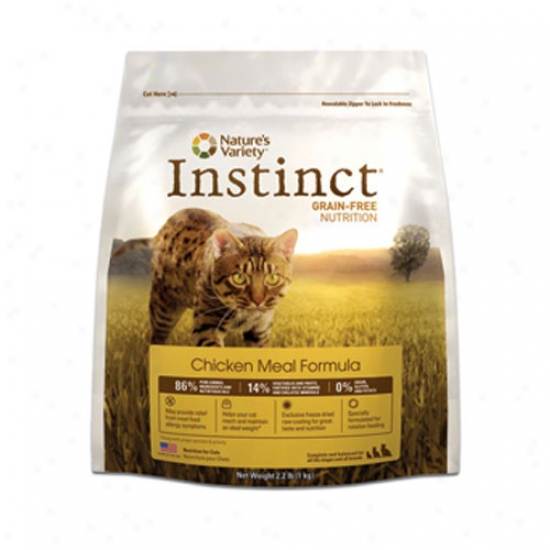 Natures Variety Instinct Grain Free Chicken Meal Kibble For Cats 5.5lb