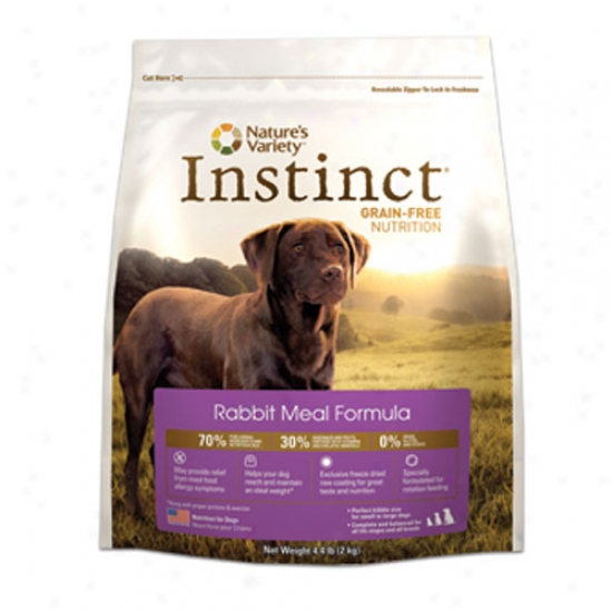 Naturws Variety Instinct Grain Free Rabbit Flour Kibble For Dogs 4.4lb