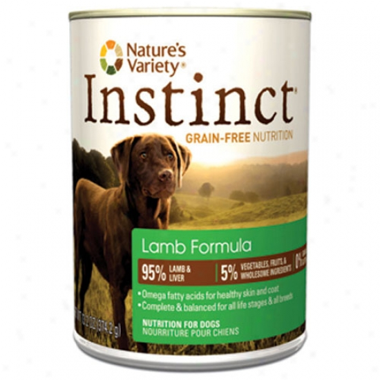 Natures Variety Instinct Lamb 13.2oz Canned Diet Case