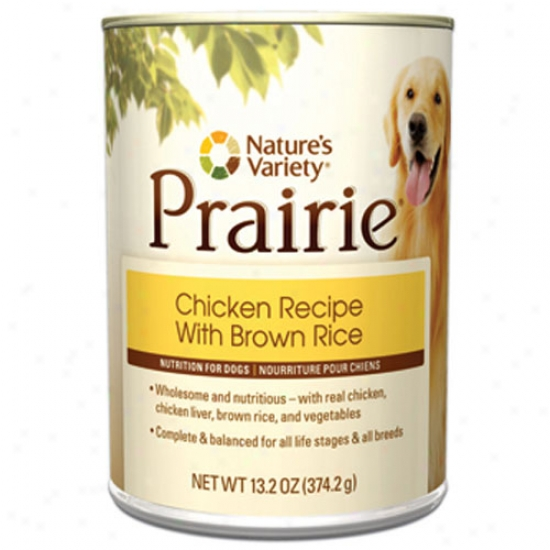 Natures Variety Prairie Chicken Recipe - Brown Rice For Dogs Case-12 13.2oz Cans