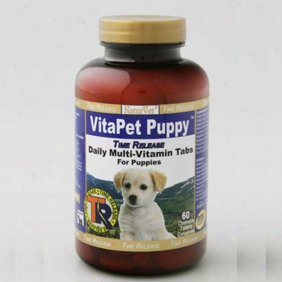 Naturvet Tr Vitapet Pup Tablets Time Release 60ct