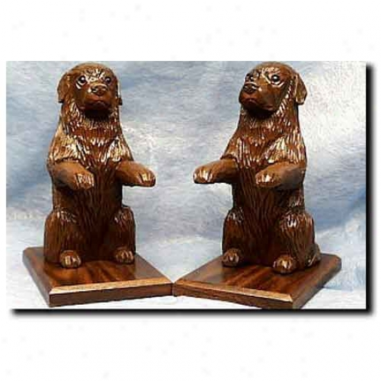 Newfoundland Bookends Brown