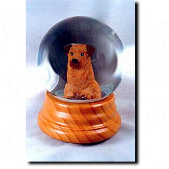 Norfolk Terrier Musical Snow Globe