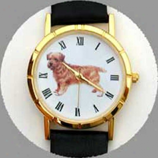 Norfolk Terrier Watch - Small Face, Negro Lwather